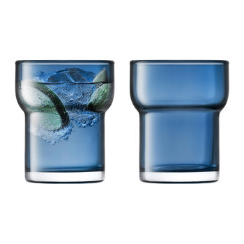 Utility Blown Glass Tumbler - Set of 2 - Sapphire