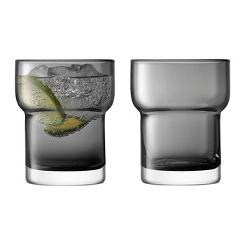 Utility Blown Glass Tumbler - Set of 2 - Slate