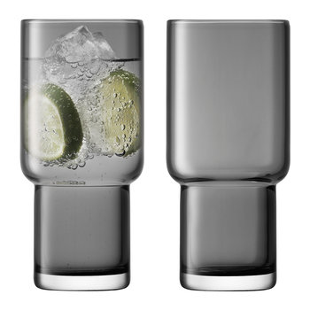 Utility Blown Highball Glass - Set of 2 - Slate