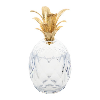 Pineapple Acrylic Ice Bucket - Clear/Gold