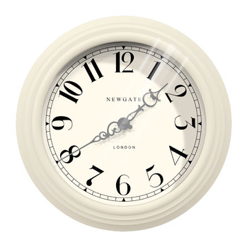 The Dormitory Wall Clock - Linen White