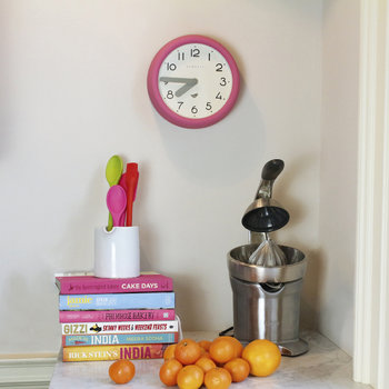 The Pantry Wall Clock - Hot Pink