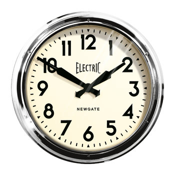 The Giant Electric Wall Clock - Chrome