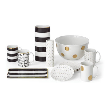 Everdone Lane Black & White Stripe Vase