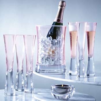 Moya Champagne Flutes - Set of 2 - Blush