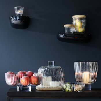 Pleat Duo Glass Dish