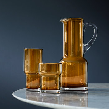 Utility Blown Glass Pitcher - 1.35L - Amber