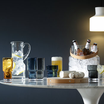 Utility Blown Highball Glass - Set of 2 - Clear