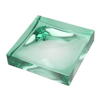 Square Soap Dish - Aquamarine Green