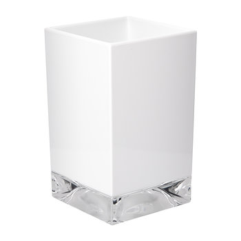 Square Toothbrush Holder - Matt White