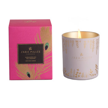Printed Glass Soy Wax Candle - 240g - Sandalwood, Oud & Cardamom