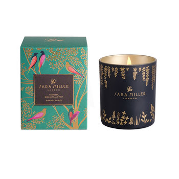 Printed Glass Soy Wax Candle - 240g - White Tea, Bergamot & Mint
