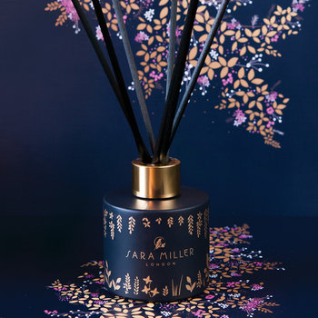 Printed Glass Reed Diffuser - 100ml - Amber, Orchid & Lotus