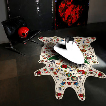 Tattoo Vinyl Floor Mat - Multi Love