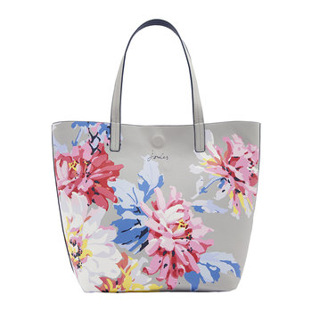 Reversible Revery Printed Shoulder Bag - Grey Whitstable Floral