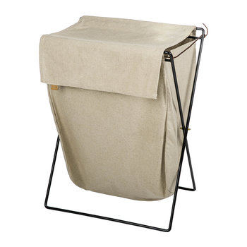 Herman Laundry Stand - Black/Beige