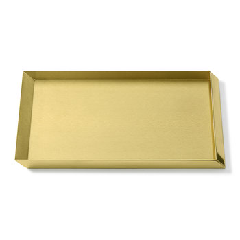 Axonometry A4 Desk Tray - Brass