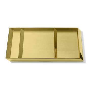 Axonometry Coffee Tray Set - Brass