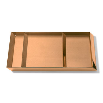 Axonometry Coffee Tray Set - Rose Gold