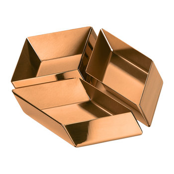 Axonometry Serving Tray - Set of 3 - Rose Gold Cube