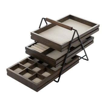 Terrace Jewellery Tray - Black/Walnut