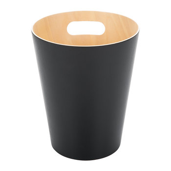 Woodrow Waste Bin - Black/Natural