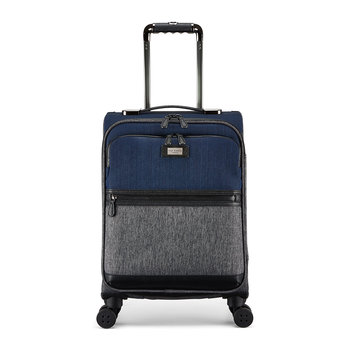 Brunswick Softside Suitcase - Small - Grey/Blue