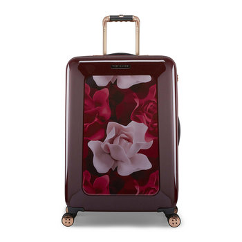 Porcelain Rose Suitcase - Burgundy