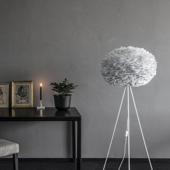 Eos Feather Lamp Shade - Grey - Large
