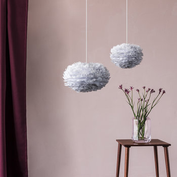 Eos Feather Lamp Shade - Gray - Mini