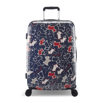 Speckle Dog Suitcase - Navy Ink