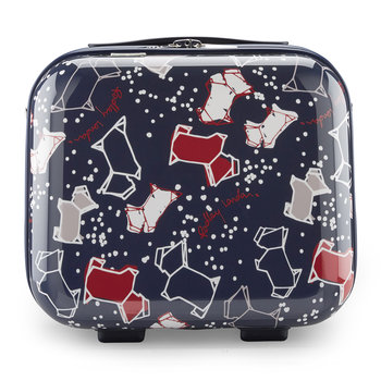 Speckle Dog Vanity Case - Navy Ink