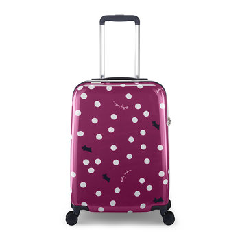 Vintage Dog Dot Suitcase - Magenta