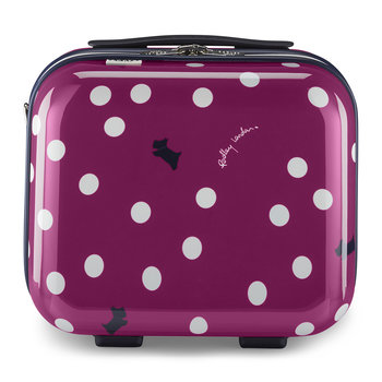 Vintage Dog Dot Vanity Case - Magenta