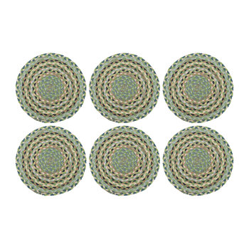 Rope Round Placemats - Set of 6 - Mint