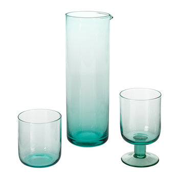 Bloom Glass Pitcher - Turquoise