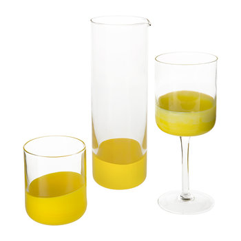 Spot Glass Pitcher - Yellow
