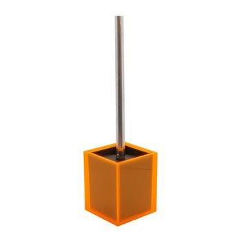 Flash Blocco Acrylic Toilet Brush - Orange