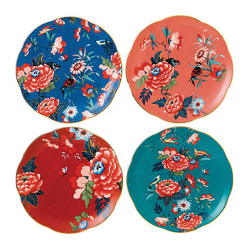 Paeonia Plates - 20cm - Set of 4