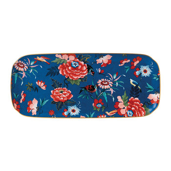Paeonia Sandwich Tray - Large - Blue