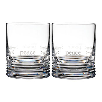 Ogham DOF Tumbler - Set of 2 - Peace