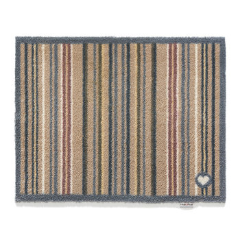 Contemporary Collection Stripe 26 Door Mat - Brown