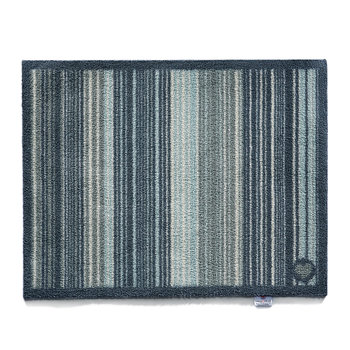 Contemporary Collection Stripe 76 Door Mat - Blue