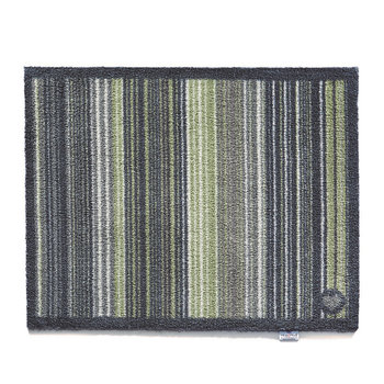 Stripe Washable Recycled Door Mat - Green - 65x85cm
