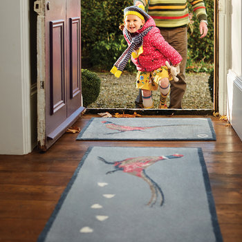 Pheasant Washable Recycled Door Mat - 65x85cm