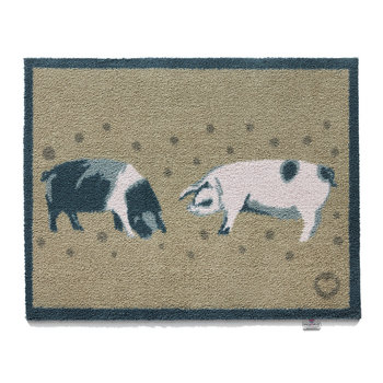 Pigs Washable Recycled Door Mat - 65x85cm