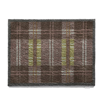 Dugdale Checked Washable Recycled Door Mat - 65x85cm