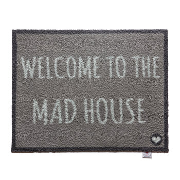 Washable Recycled Door Mat - Welcome to the Mad House - 65x85cm