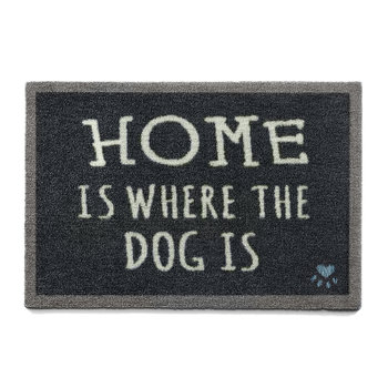 Home Is Where The Dog Is Washable Recycled Door Mat - 65x85cm