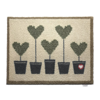 Topiary Hearts Washable Recycled Door Mat - 65x85cm